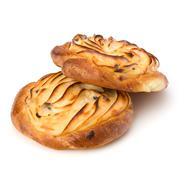 Delicious sweet cream buns Stock Photos