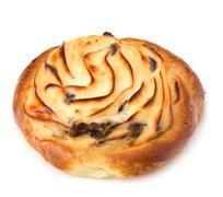 Stock Photo of delicious sweet cream bun