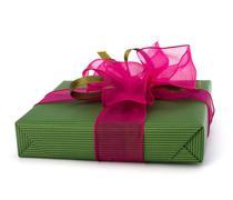 Festive gift box Stock Photos