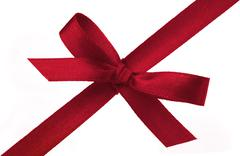 Stock Photo of festive gift ribbon and bow