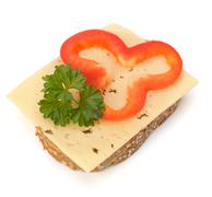 healthy sandwich with vegetable - stock photo