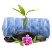 Spa concept. towel roll. Stock Photos