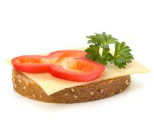 Stock Photo of healthy sandwich with vegetable