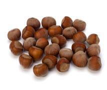 Hazelnuts isolated on white background Stock Photos
