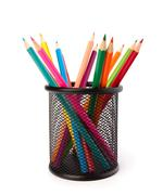 colour pencils - stock photo