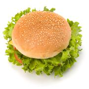 Stock Photo of junk food hamburger