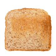 Crusty bread toast slice Stock Photos
