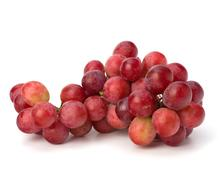perfect bunch of red grapes - stock photo