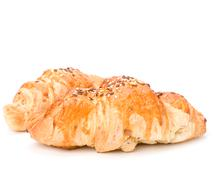 croissant isolated on white background - stock photo