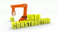 under construction - stock footage