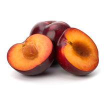 Stock Photo of red plum fruit