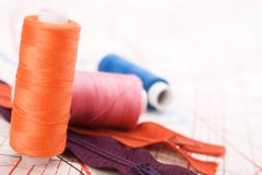 Spool of thread. sew accessories. Stock Photos