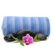 spa concept. towel roll. - stock photo