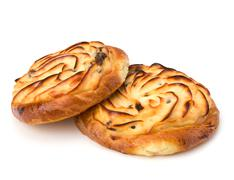 Stock Photo of delicious sweet cream buns