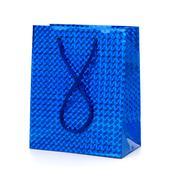 Glossy festive gift bag Stock Photos