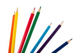 colouring crayon pencils bunch - stock photo