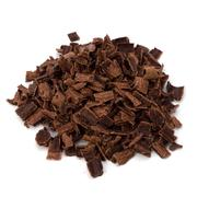 crushed chocolate shavings pile - stock photo
