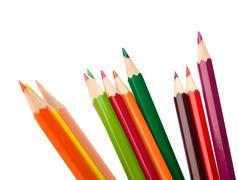 colouring crayon pencils - stock photo