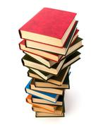 book stack - stock photo