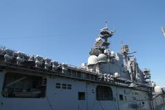 Amphibious assault ship bonhomme richard, ldh-6 Stock Photos