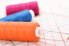 spool of thread. sew accessories. - stock photo