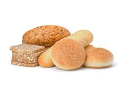 Stock Photo of bread loafs and buns variety