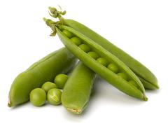 fresh green pea pod - stock photo