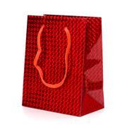 glossy festive gift bag - stock photo