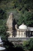 exterior architecture of  jain temple - stock photo