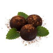 chocolate truffle candy - stock photo