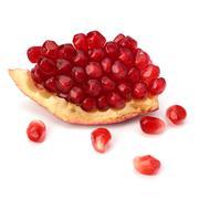 ripe pomegranate piece - stock photo