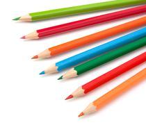 Colouring crayon pencils Stock Photos