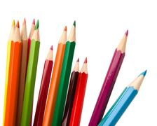 colouring crayon pencils - stock photo