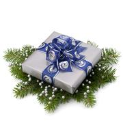Stock Photo of silver gift box