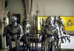 Armor of medieval knights Stock Photos