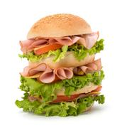 junk food hamburger - stock photo