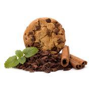 chocolate homemade pastry cookies - stock photo