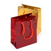 glossy festive gift bags - stock photo