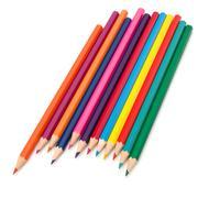colouring crayon pencils bunch - stock photo