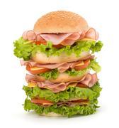 Stock Photo of junk food hamburger