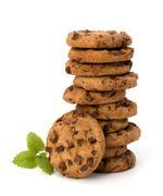 Chocolate homemade pastry cookies Stock Photos