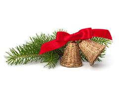 christmas decoration with bells - stock photo