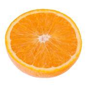 sliced orange fruit half - stock photo