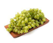perfect bunch of white grapes - stock photo