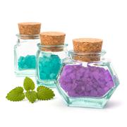 aromatic natural mineral salt - stock photo