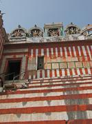 steps leading up to  shiva temple - stock photo