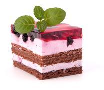 Delicious  cake piece Stock Photos