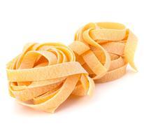 italian pasta fettuccine nest - stock photo