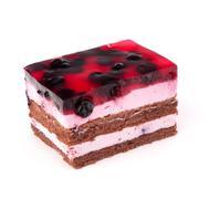 delicious  cake piece - stock photo
