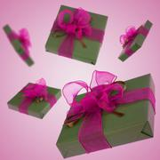 flying  gifts - stock photo